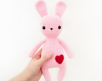CROCHET PATTERN in English - Sweet Rabbit - Sweet Dreams Collection - 10.5 in./27 cm. tall - Amigurumi Animal - Instant PDF Download