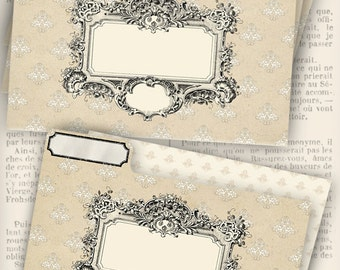 Shabby Chic File Folders printable add text paper crafting craft room organizing digital download sheet - VDMISC1001