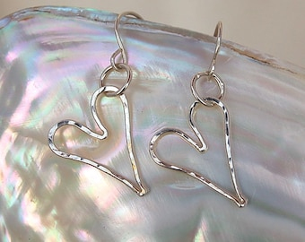 Fine Silver Sweet Heart Earrings