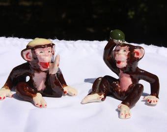 Weird Vintage Monkey Figurines Knick Knacks Made in Japan