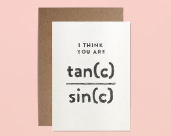 Valentines Day Card - I think you are very sec(c)