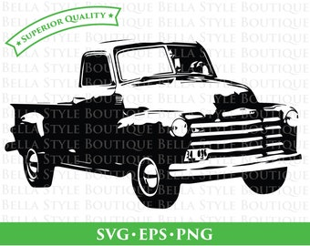 49 Chevy Truck svg png eps cut file