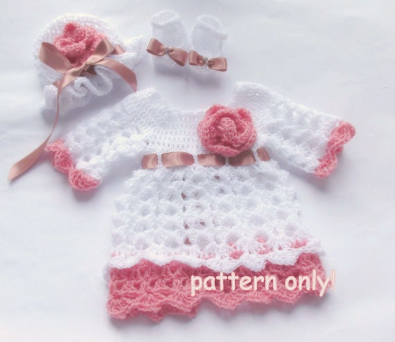Crochet Baby Pattern Baby Dress Crochet Diy Baby Dress White Baby