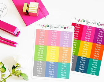 To Do Headers, Rainbow Headers, Planner Stickers, Erin Condren Header, Life Planner Header, ECLP Stickers, Matte Stickers #H1