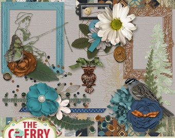 Au Naturel Digital Scrapbooking Kit