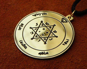 Second pentacle of Jupiter necklace, Solomonic pentacle of Jupiter pendant , Seal of Jupiter necklace
