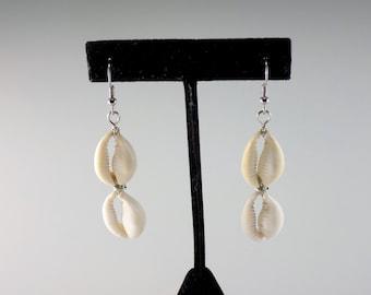 Cowrie Shells Two Earrings