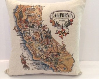 California State Map Pillow