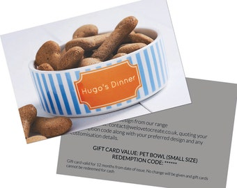 Gift Card for Pet Bowl