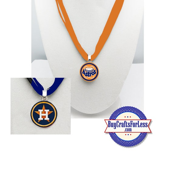 HOUSTON Baseball PENDaNT, CHooSE Design and Ribbon Cord - Super CUTE!  +FREE SHiPPiNG & Discounts*