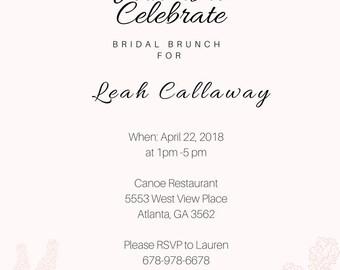 Pastel Floral Bridal Shower Invitation