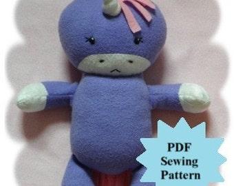 Stuffed Animal Sewing Pattern, Plush Sewing Pattern PDF - Unicorn, Softie, Plushie - Instant Download, DIY
