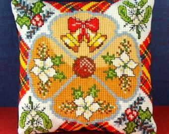 A Joyful Christmas Mini Cushion Cross Stitch Kit