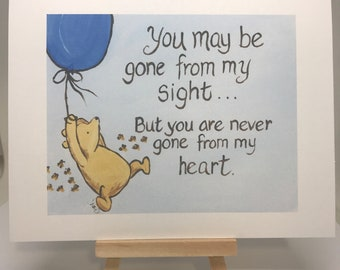 Sympathy cards grief bereavement classic pooh winnie the pooh winnie the pooh greeting card saying goodbye going away winnie the pooh miss you card missing someone love card thinking of you sympathy m4hsunfo