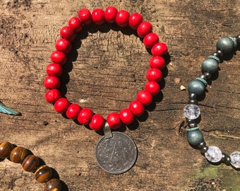 Afghani Kuchi Coin Charm Bracelete