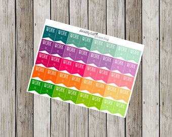 Rainbow WORK Planner Stickers for Erin Condren Life Planner (ECLP)
