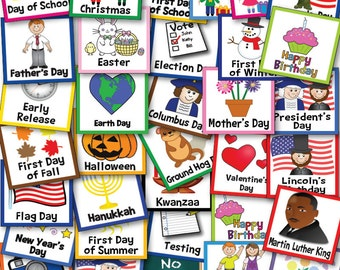Classroom Calendar Cards For The Entire Year Includes A Fillable Page of Birthday Calendar Cards Great For Teachers Calendar Time 36 Cards