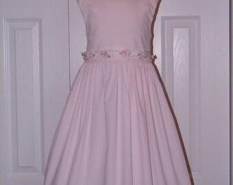 1340 Baby Pink Cotton Sundress