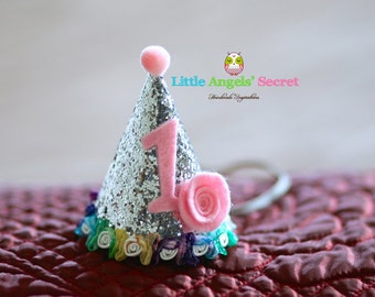 Glitter Birthday Party Hat, Birthday Hat, Birthday Party Hat, Party Hat, Glitter birthday hat, Photo prop, baby photo prop.