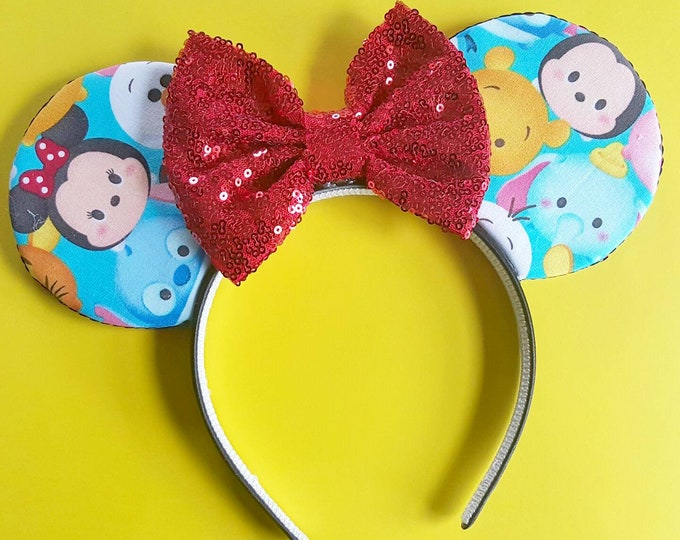 Tsum Tsum || Tsum Tsum Mouse Ears || Minnie Ears || Mouse Ears || Mouse Ears Headband || Minnie Mouse Ears || Sparkle Mouse Ears || RTS