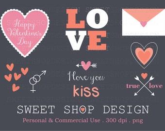 Heart Clip Art, Valentine Clip Art, Love Clip Art, Wedding, Royalty Free, Instant Download