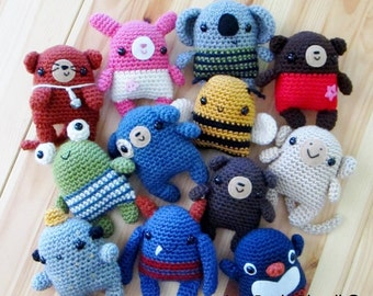 Seriously Cute Crochet I ebook: 25 amigurumi crochet pattern sets - PDF Digital Download