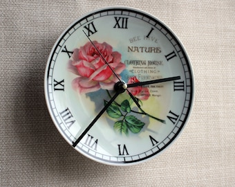"Clock-plate wall porcelain""Retro"", gift, inexpensive, watches, design, exclusive, buy"