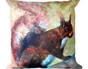 Squirrel Square Pillow