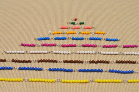Kurze Perlenketten Montessori / Prep für Multiplikation / Skip