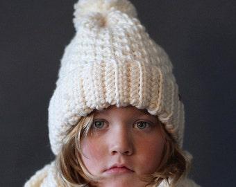 Crochet Beanie Hat PATTERN Brighton Alpine Ski Hat Crochet Hat Pattern Includes 5 Sizes Newborn, Toddler, Child and Adult