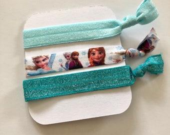 Hair ties bobbles Disney Frozen set