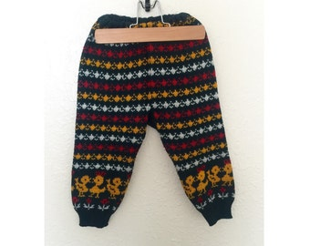 Vintage Children's Wool Pants • Children's Dutch Ducky Wool Winter Legging Pants.