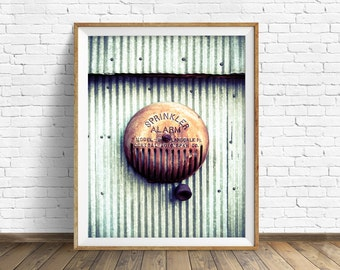 "photography, large art, large wall art, printable art, instant download art, digital download art, wall art, industrial, rustic - ""Alarm"""