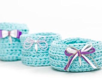 basket, Set of turquoise baskets