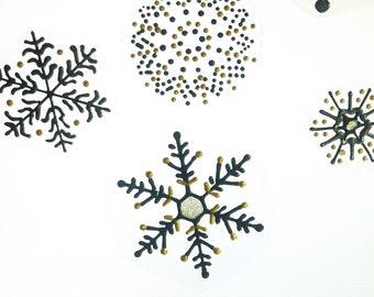 Snowflakes window clings sun catcher