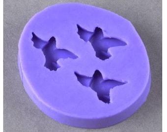 moule en silicone 3 pigeons pour pâte fimo, pour pâte polymère