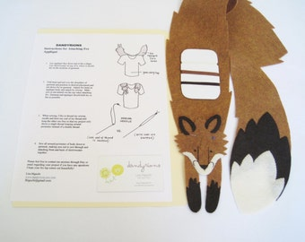 Fox Applique, DIY sew-on fox decorative patch