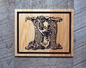Wooden Letter H ~ Wood Wa...