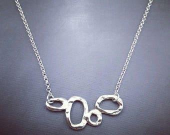 Multi Circle Necklace, Minimalist Jewelry, Layering Necklace, Layered and Long, Geometric, Minimal Necklace, Modern Jewelry