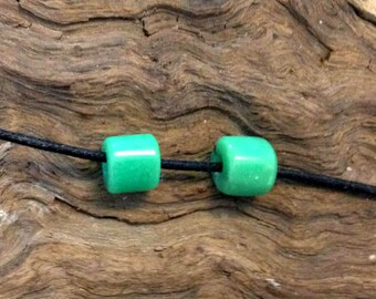 Hand Carved Australian Chrysoprase Beads.