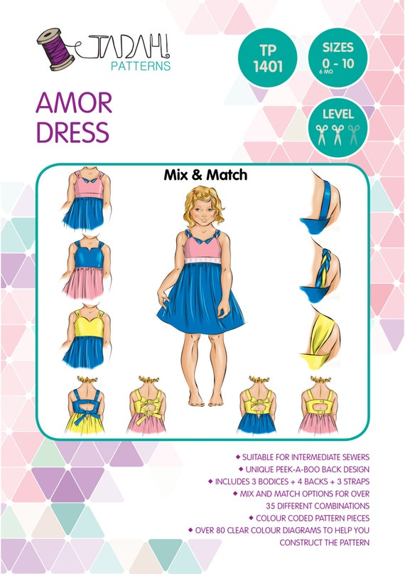 PATTERN Amor Dress PDF Sewing Pattern Instant Download