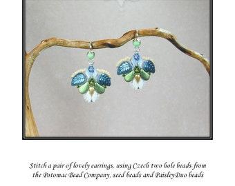 Lotus earrings PDF tutorial