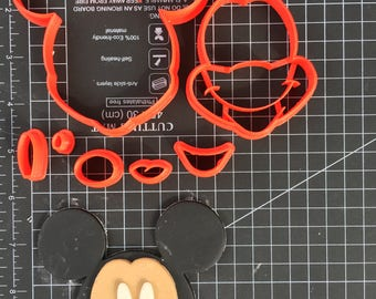 Mickey Mouse Cookie Fondant Cutter Set - Large Sizes! Extra Durable!