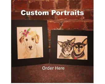 Order Original Custom Watercolor Paintings