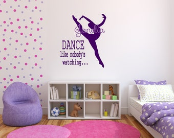 Large Ballet Dance Wall Decals! DANCE Like Nobody's Watching