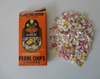 VINTAGE hartz mountain colored PEARL CHIPS for bulbs and aquariums