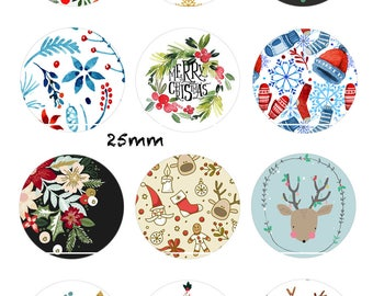 CT185 Christmas will get 12 Digital Images, drawings, collages, Scrapbooking 30/25/20/18/16/15/14/12/10/8 mm cabochon round/square/oval