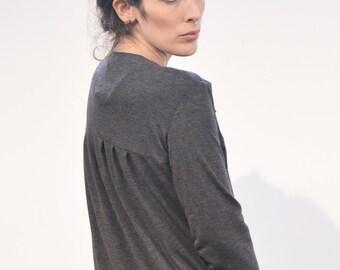 Sale! Jersey-jacket ' lobe ' grey cardigan