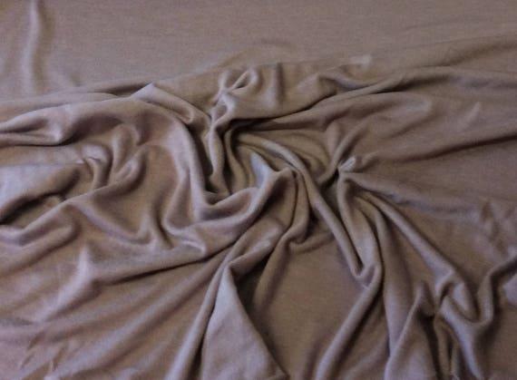 Lilac grey cotton/viscose jersey