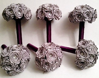 6 piece bridesmaid bouquet package-customize to your colours
